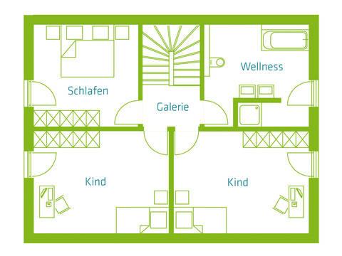 KitzlingerHaus Einfamilienhaus Family Grundriss OG