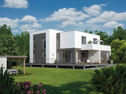Außenansicht Architektenhaus Flachdach - Comfortline Bauhaus