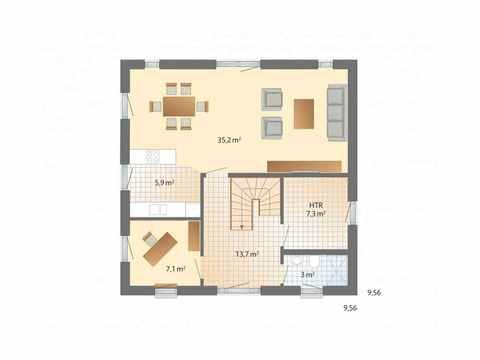 Musterhaus Adelby - Danhaus Grundriss EG
