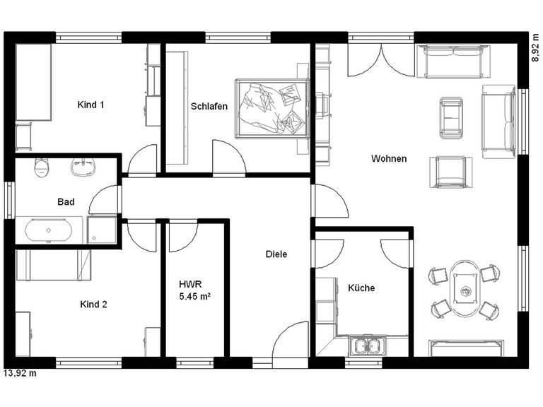 Haus Junge Familie 140 Grundriss Erdgeschoss