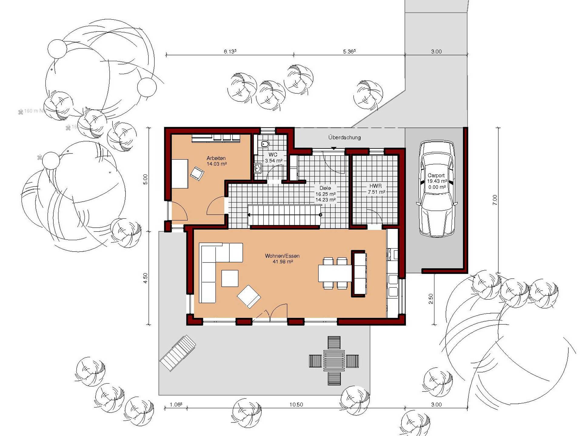 Grundriss Erdgeschoss Aktionshaus Herbst 2014