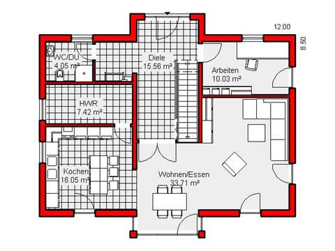 Grundriss Erdgeschoss Haus Kassel