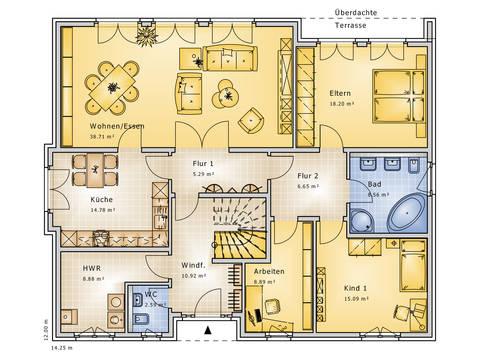 Grundrisse Erdgeschoss Bungalow Dynamic