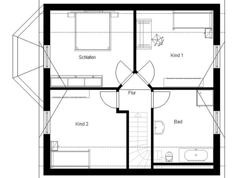 Landhaus 120 Grundriss Dachgeschoss