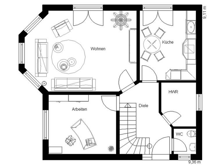 Landhaus 120 Grundriss Erdgeschoss
