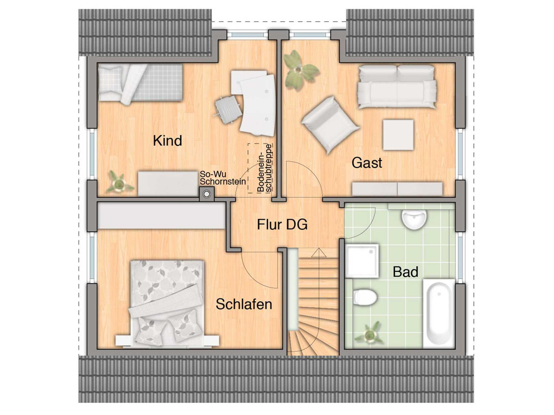 Grundriss Obergeschoss Flair 113