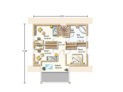 Grundriss Obergeschoss Igling