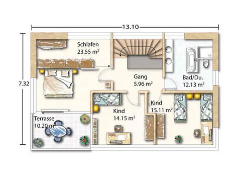 Grundriss Obergeschoss Ohmden