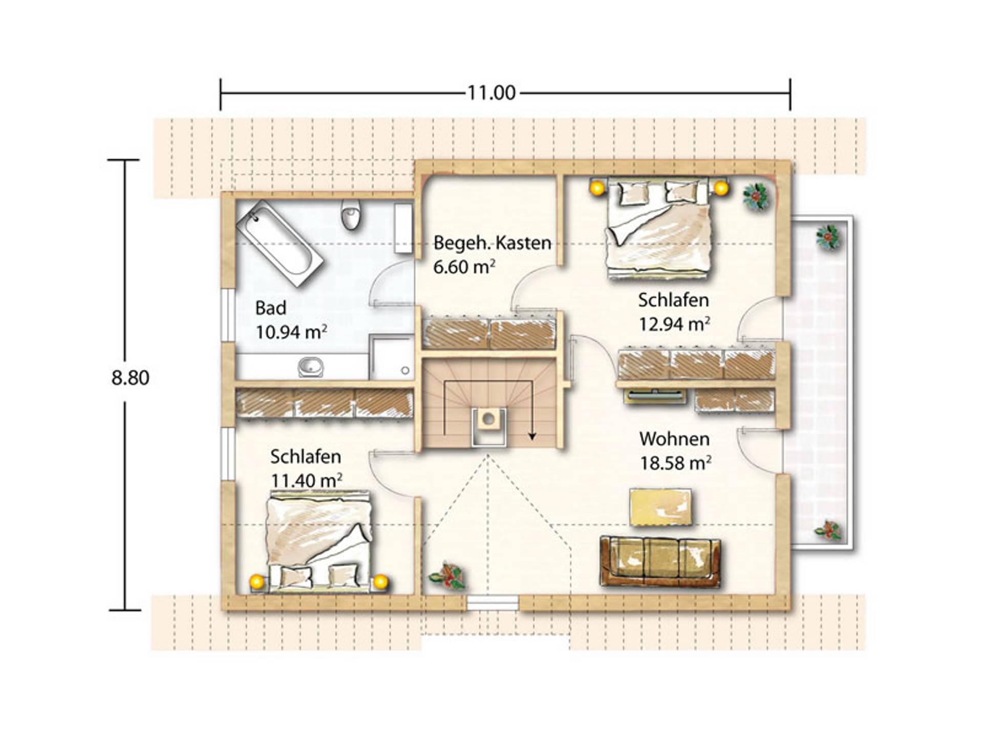Grundriss Obergeschoss Zell