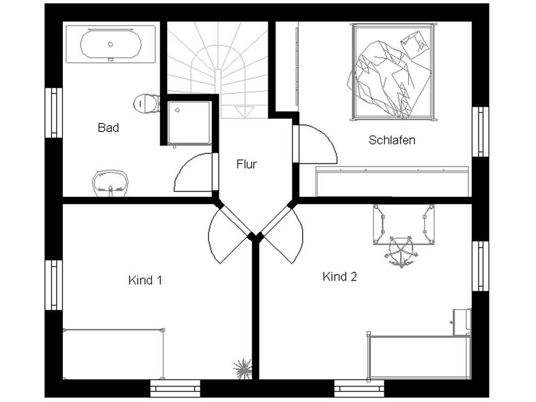 Toskana 100 Grundriss Dachgeschoss
