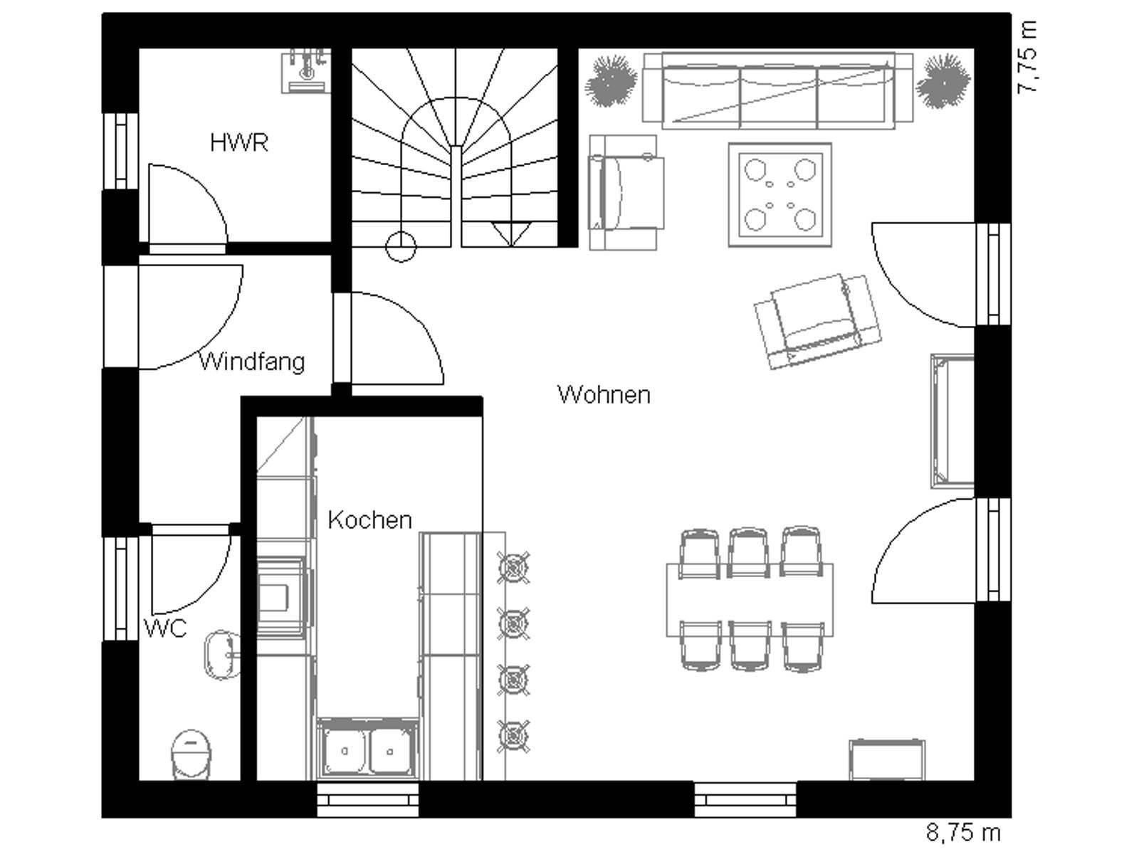toskana 100 domoplan massivhaus. Black Bedroom Furniture Sets. Home Design Ideas