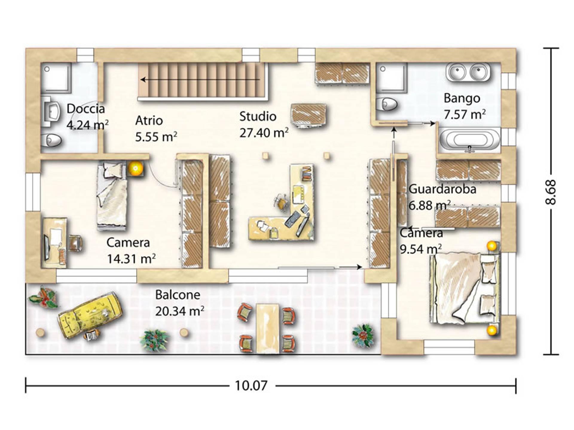 Grundriss Obergeschoss Tessin