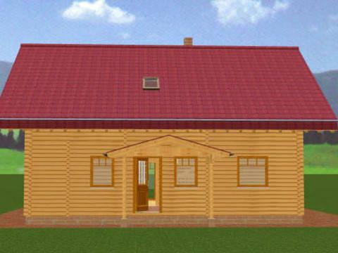 Animation der Außenansicht Blockhaus Busselmann 1