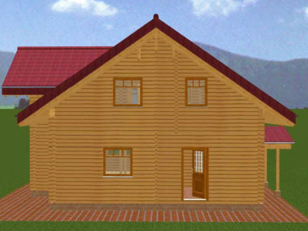 Animation der Außenansicht Blockhaus Busselmann 2