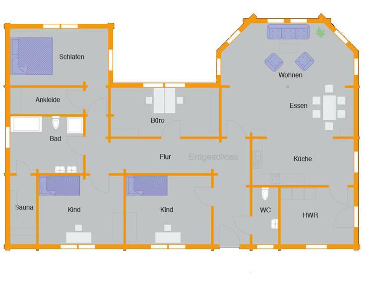 Grundriss Blockhaus Göbel