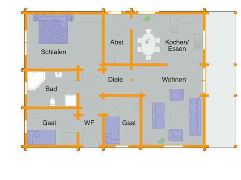 Grundriss Blockhaus Hoppe