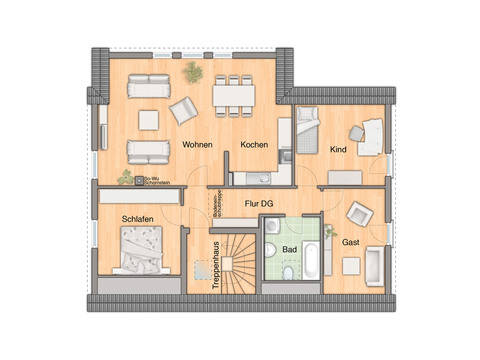 Domizil 192 Grundriss Dachgeschoss