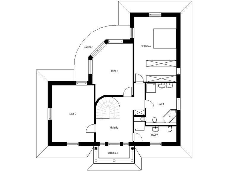 Haus Toskana 200 Grundriss Dachgeschoss
