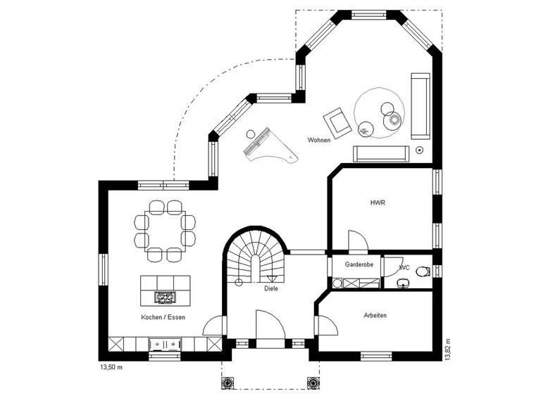 Haus Toskana 200 Grundriss Erdgeschoss