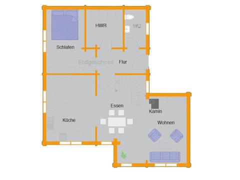 Grundriss Erdgeschoss Holzhaus Remme