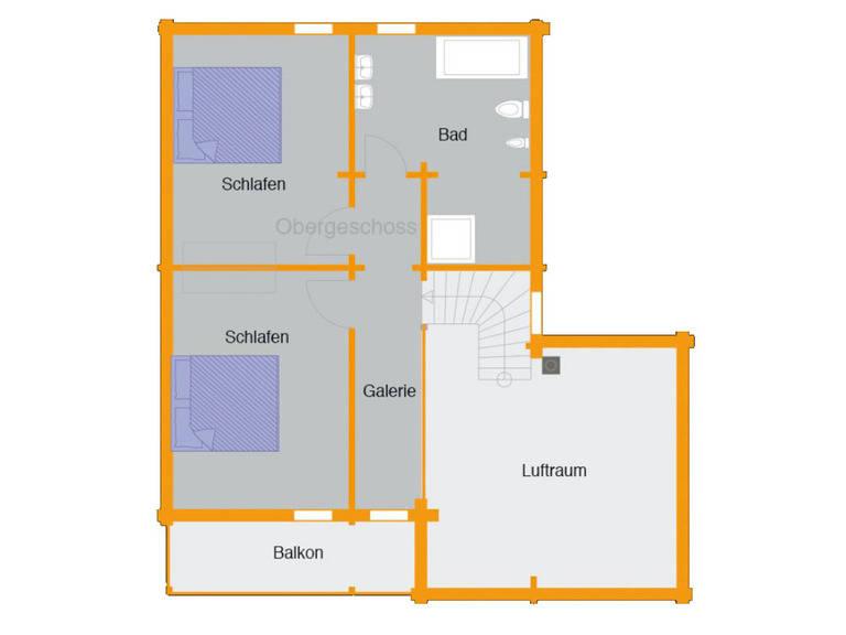 Grundriss Obergeschoss Holzhaus Remme