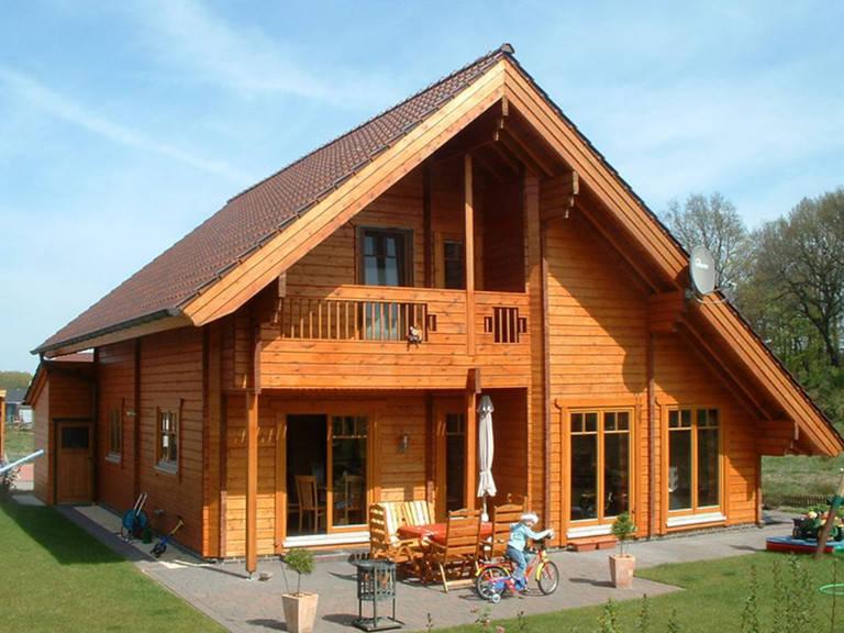 Außenansicht Holzhaus Remme