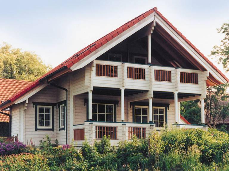 Außenansicht Holzhaus Wolf Variante 1