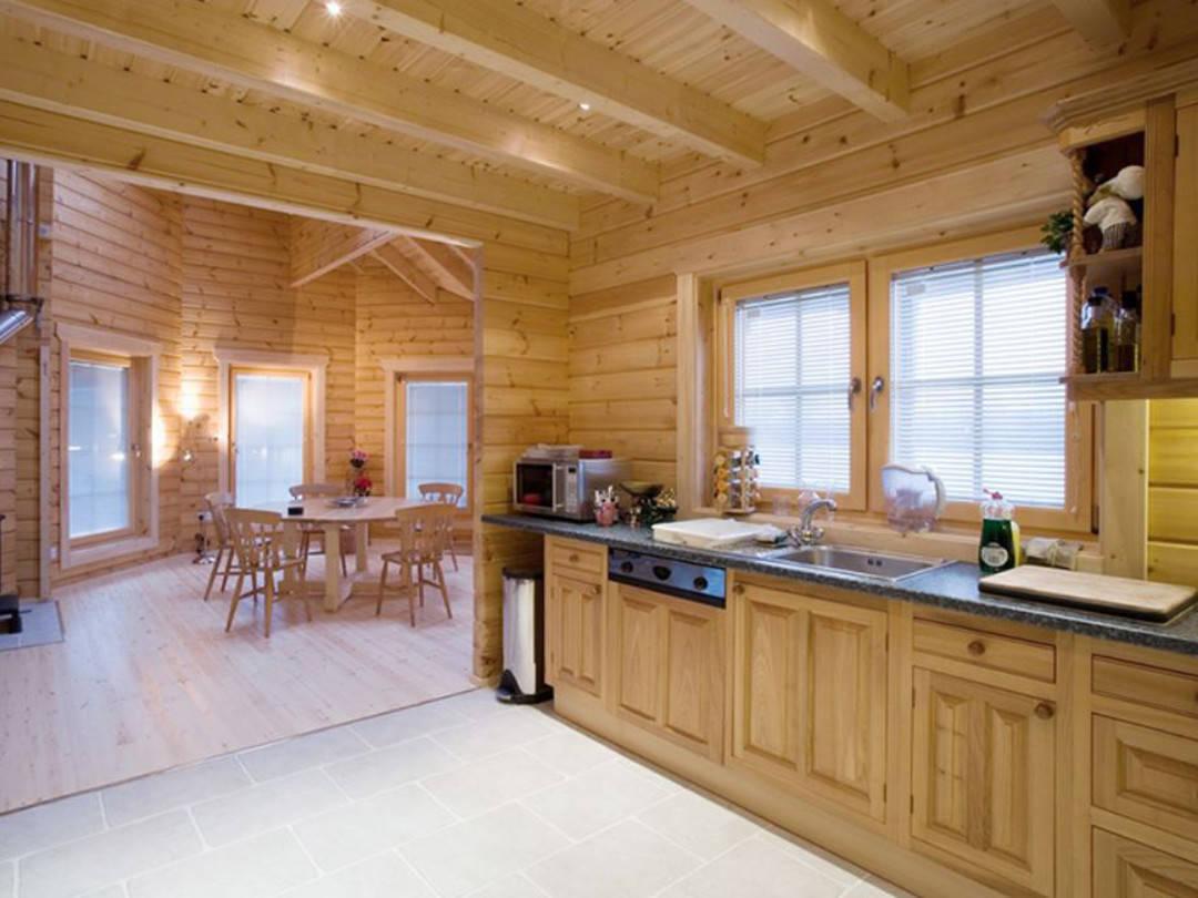 Küche Holzhaus Wolf