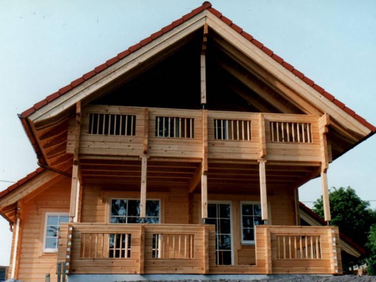 Außenansicht Holzhaus Wolf Variante 2