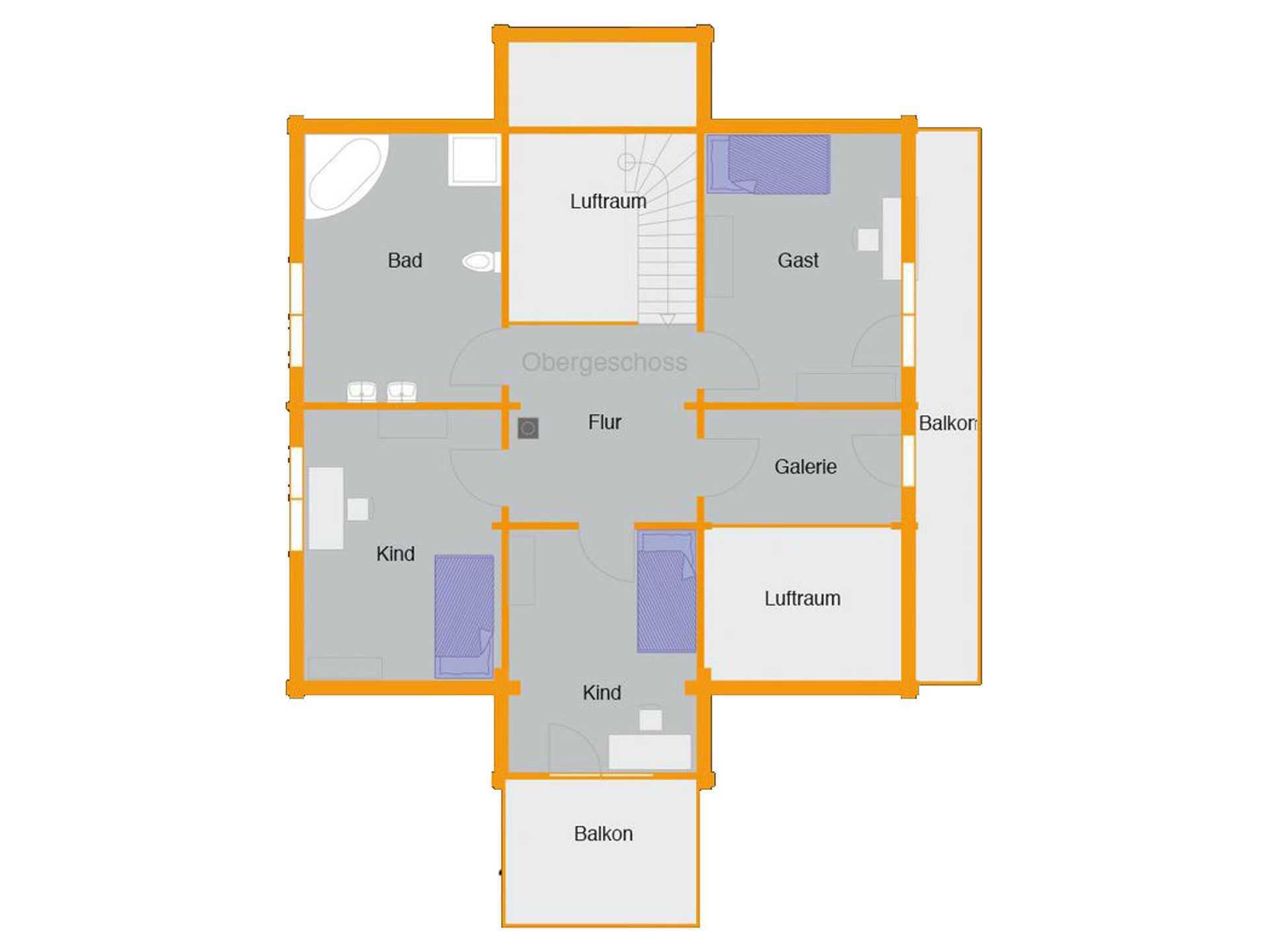 Grundriss Obergeschoss Schwedenhaus Bruns