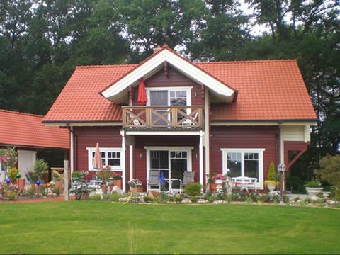 Außenansicht Schwedenhaus Bruns Gartenansicht 3