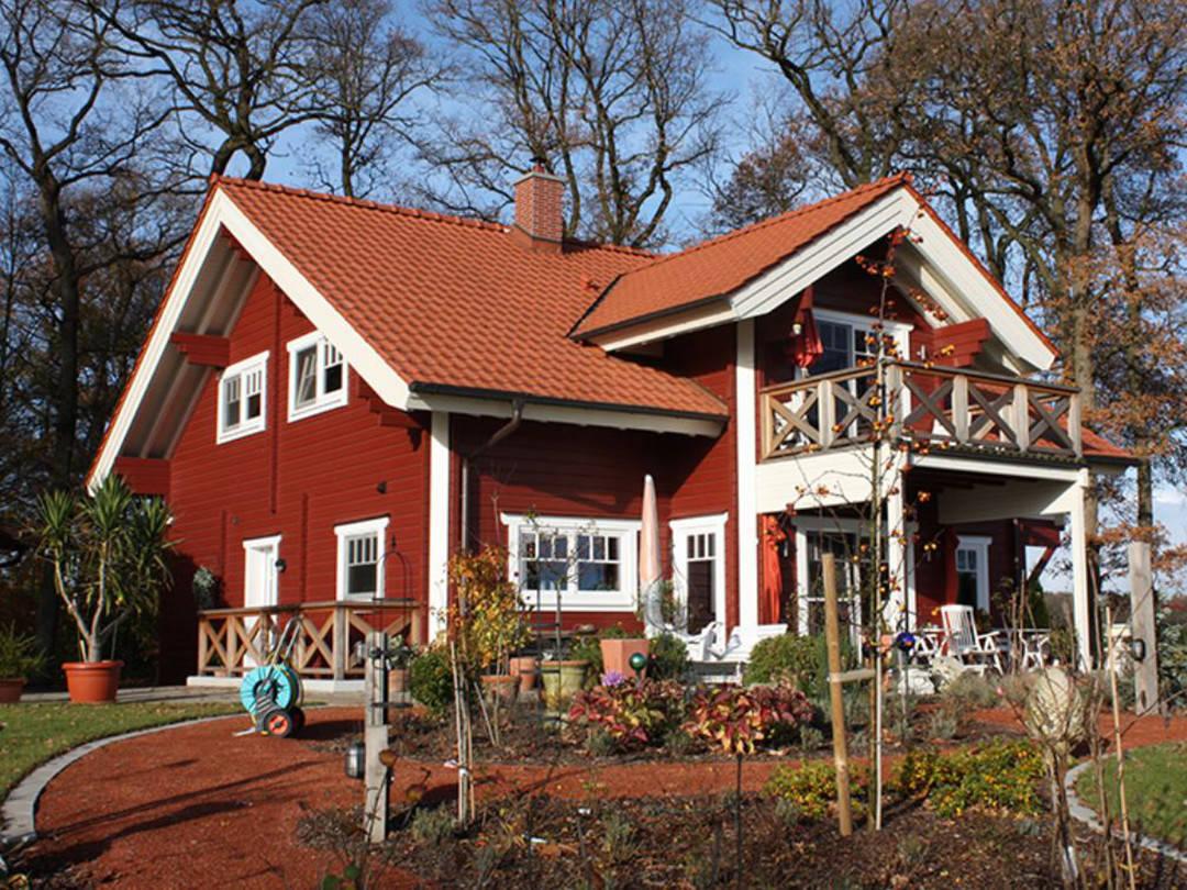 Außenansicht Schwedenhaus Bruns Gartenansicht 2