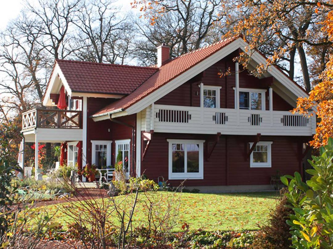 Außenansicht Schwedenhaus Bruns Gartenansicht 1