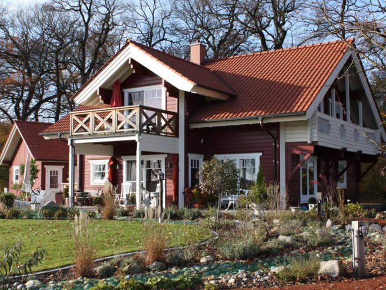 Außenansicht Schwedenhaus Bruns Gartenansicht 4