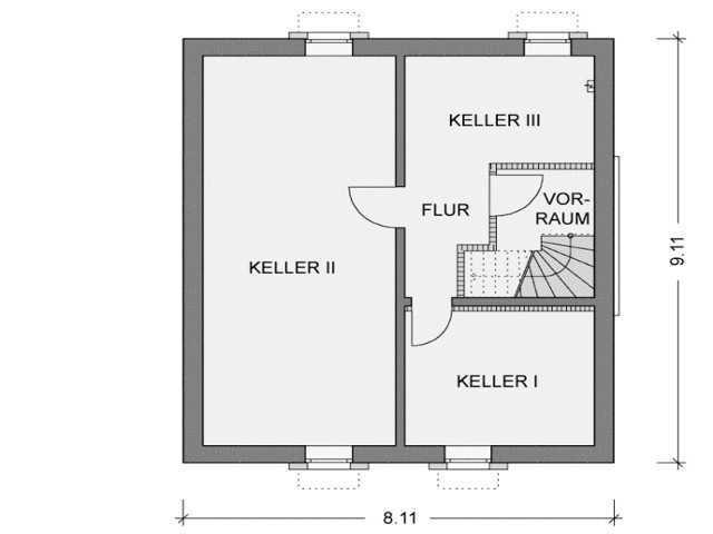 Grundriss Keller Modicus M50.D