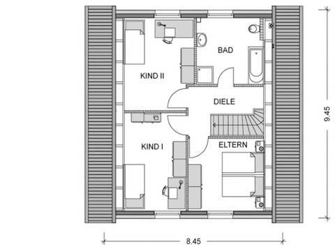 Grundriss Obergeschoss Modicus M50.D