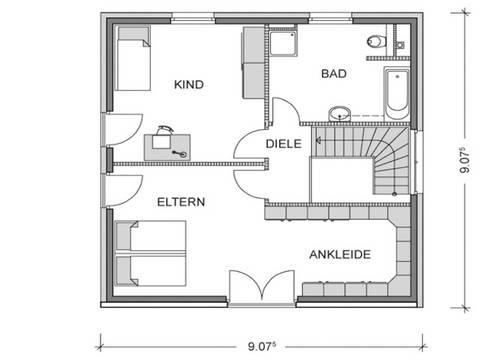 Grundriss Obergeschoss ARCUS WD.300