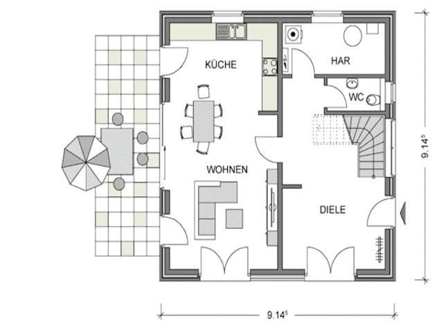 Grundriss Erdgeschoss ARCUS WD.300