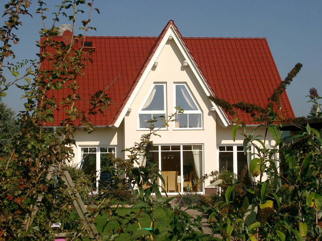 Aussenansicht auf die Terrasse des Friesenhauses.