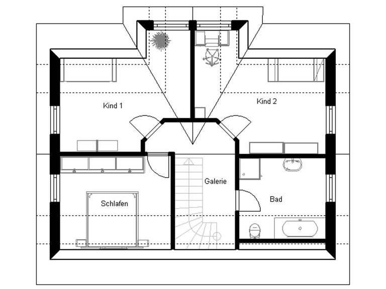 Haus Vision 120 Grundriss Dachgeschoss