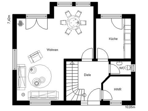 Haus Vision 120 Grundriss Erdgeschoss
