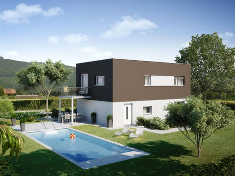 Haus Alea Variante 1 Gartenseite