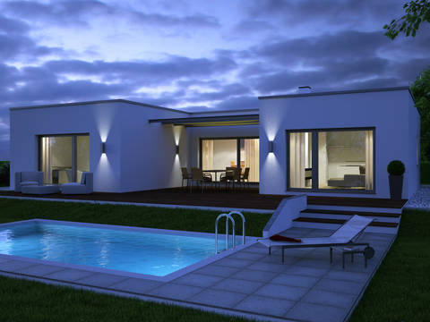 Haus Penta Wimberger bei Nacht