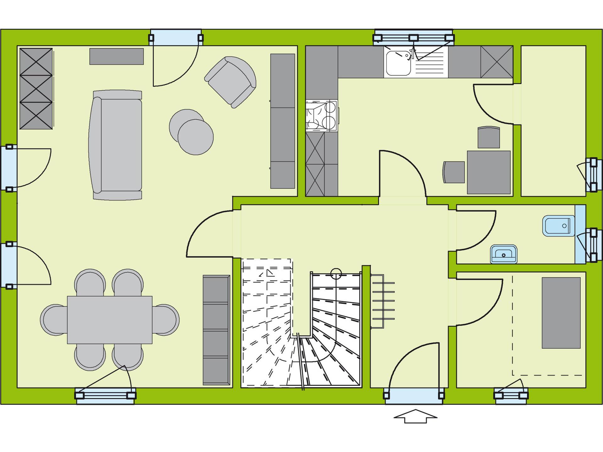 Grundriss EG Stadt Special 1 von massa haus GmbH
