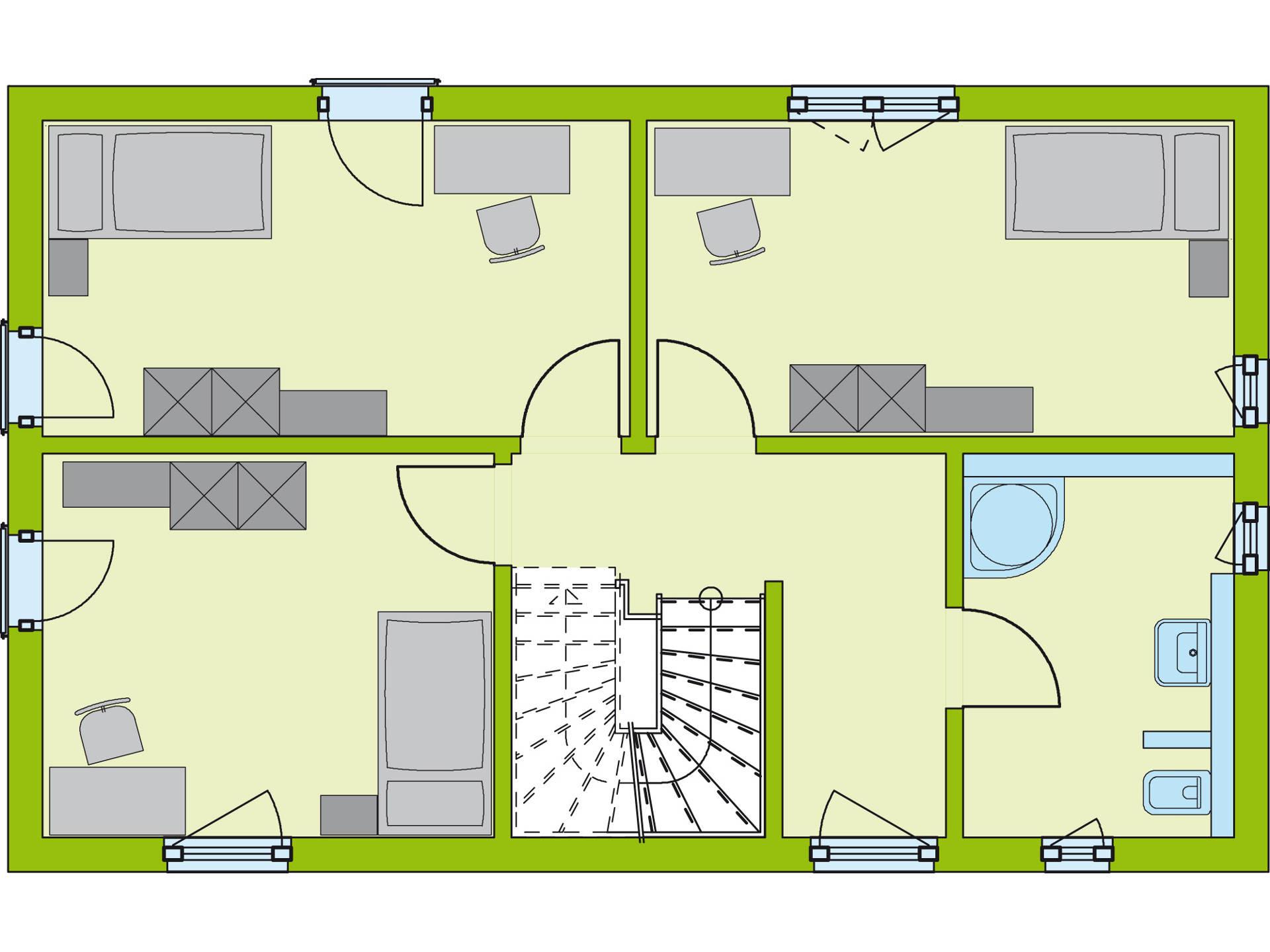 Grundriss OG Stadt Special 1 von massa haus GmbH