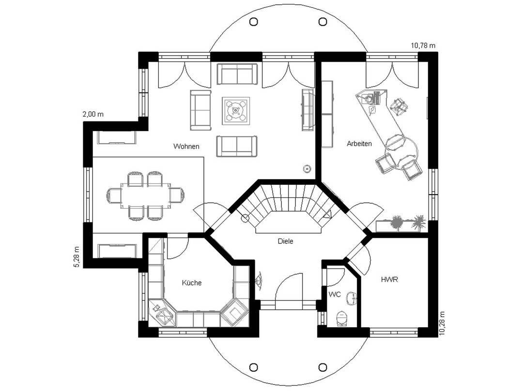 Haus Vision 180 Grundriss Erdgeschoss