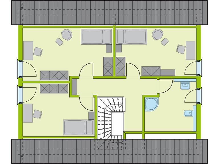 Grundriss DG Haus Stadt-Special 2 von massa hausGmbH