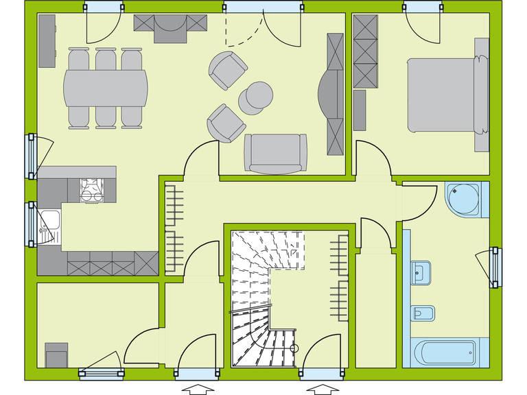 Grundriss EG Haus Stadt-Special 2 von massa hausGmbH