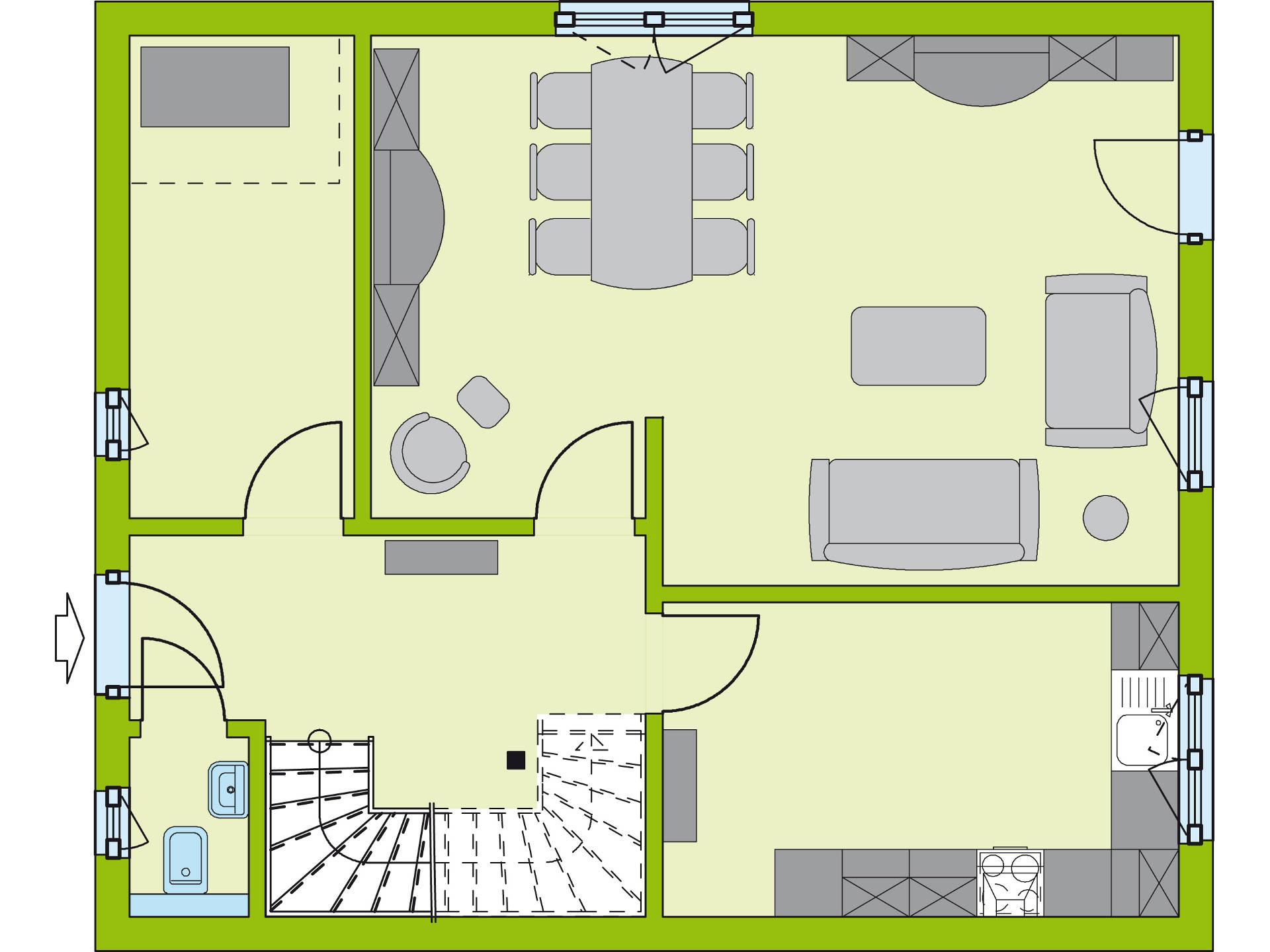 Grundriss EG Stadt-Special 3 von massa haus GmbH