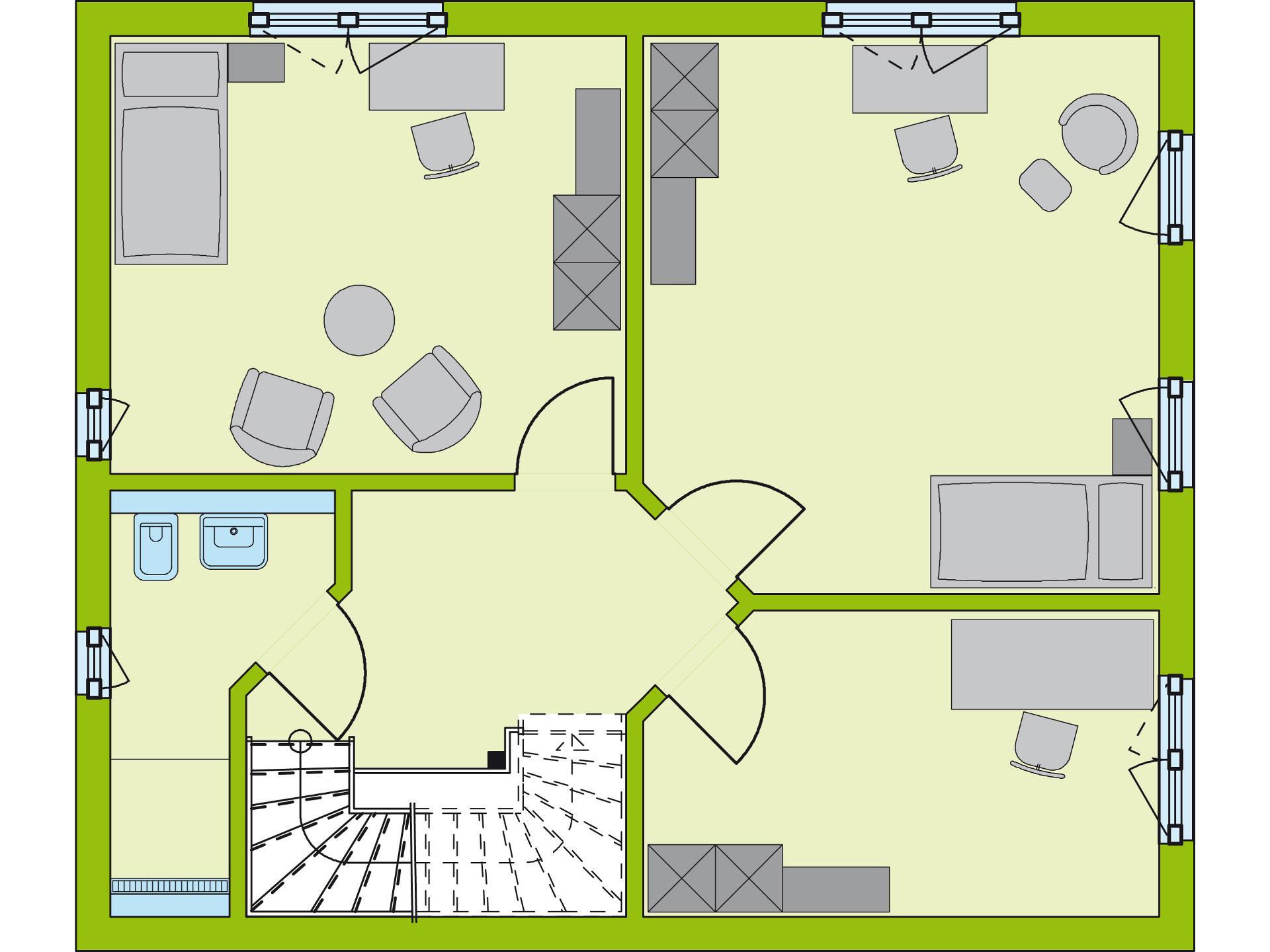 Grundriss OG Stadt-Special 3 von massa haus GmbH